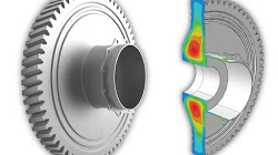 Residual stress mapping in turbine disc.